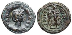 Ancient Coins - Severina Æ Tetradrachm from Alexandria with Nike reverse