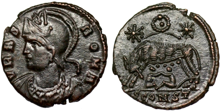 Ancient Coins - VRBS ROMA from Arles