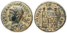 Ancient Coins - Constantine II campgate from Rome