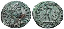 Ancient Coins - Constans FEL TEMP galley from Lyons