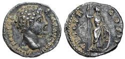 Ancient Coins - Marcus Aurelius TR POT II IMP COS II Minerva reverse from Rome
