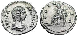 Ancient Coins - Julia Domna PVDICITIA denarius from Rome