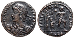 Ancient Coins - Constantius II FEL TEMP hut from Alexandria...Not in RIC
