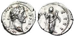 Ancient Coins - Antoninus Pius COS IIII; Fortuna from Rome
