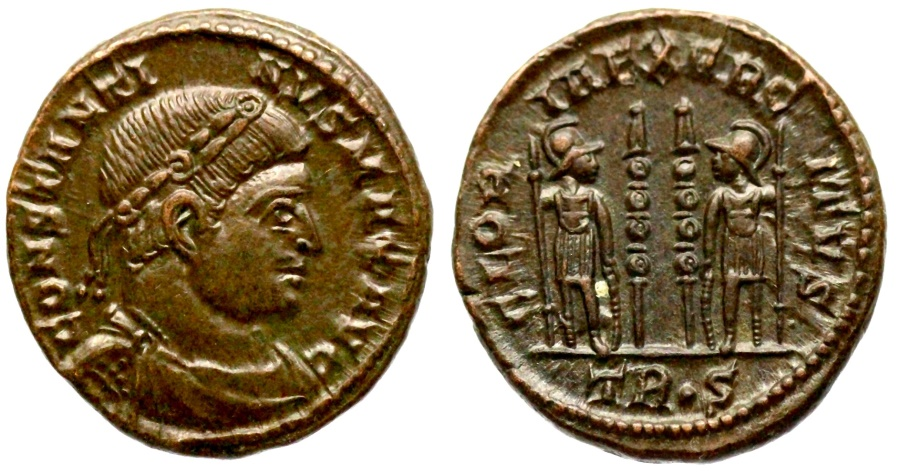 Ancient Coins - Constantine I GLORIA EXERCITVS from Trier