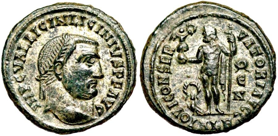 Ancient Coins - Licinius I IOVI CONSERVATORI from Alexandria...silvered