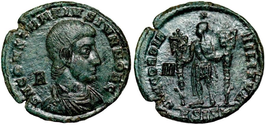 Ancient Coins - Constantius Gallus CONCORDIA MILITVM from Siscia