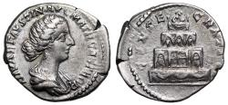 """Ancient Coins - Faustina II CONSECRATIO from Rome…. """"mother of camps"""" legend"""