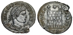 Ancient Coins - Crispus campgate from Trier