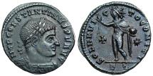 Ancient Coins - Constantine I SOL from Ticinum with cross in field