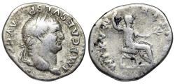 Ancient Coins - Vespasian PONTIF MAXIM from Rome