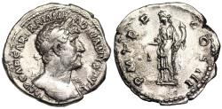 Ancient Coins - Hadrian P M TR P COS III; Aequitas from Rome
