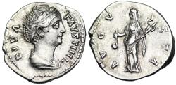 Ancient Coins - Faustina I AVGVSTA; Vesta from Rome