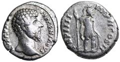 Ancient Coins - Lucius Verus TR P IIII IMP II COS II; Mars from Rome