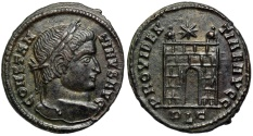 Ancient Coins - Constantine I campgate from Lyons