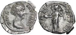 Ancient Coins - Faustina I AETERNITAS; Providentia from Rome