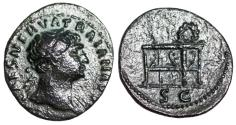 Ancient Coins - Trajan…semis from Rome with gaming table reverse