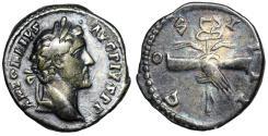 Ancient Coins - Antoninus Pius COS IIII; Clasped hands reverse from Rome