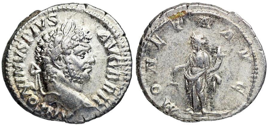 Ancient Coins - Caracalla MONETA AVG from Rome