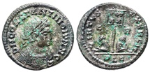 Ancient Coins - Constantine II VIRTVS EXERCIT from Lyons...Not in RIC