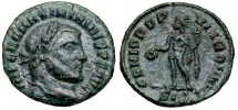 Ancient Coins - Maximianus GENIO POPVLI ROMANI quarter-follis from Siscia