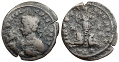 Ancient Coins - Crispus VIRTVS EXERCIT from Lyons…holding horse…Not in RIC