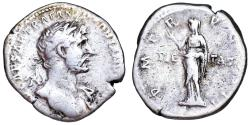 Ancient Coins - Hadrian denarius with PIETAS reverse from Rome