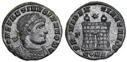 Ancient Coins - Constantine II PROVIDENTIAE CAESS camp gate from Constantinople