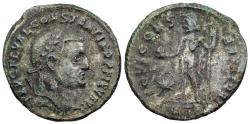 Ancient Coins - Constantine I IOVI from Heraclea...rare legend CONSTANTINO P F INV AVG