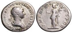 Ancient Coins - Trajan P M TR P COS VI P P SPQR; Felicitas from Rome