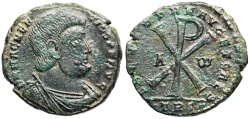 Ancient Coins - Magnentius SALVS DD NN AVG ET CAES from Trier…Chi-Rho reverse