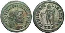 Ancient Coins - Diocletian GENIO POPVLI ROMANI from Thessalonica