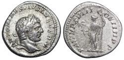 Ancient Coins - Caracalla P M TR P XVIIII COS IIII P P; Apollo reverse from Rome
