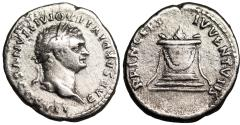 Ancient Coins - Domitian PRINCEPS IVVENTVTIS…altar from Rome