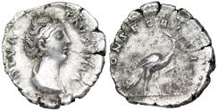 Ancient Coins - Faustina I CONSECRATIO Peacock reverse from Rome