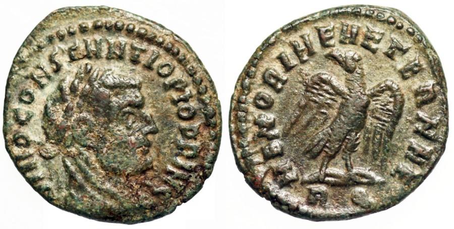 Ancient Coins - Constantius I MEMORIAE AETERNAE posthumous issue from Rome