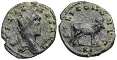Ancient Coins - Gallienus SOLI CONS AVG bull reverse from Rome