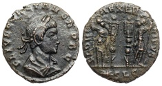 Ancient Coins - Constans GLORIA EXERCITVS from Lyons...workshop Not in RIC