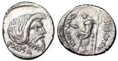 Ancient Coins - Roman Republic 48 B.C. Pan/Jupiter denarius