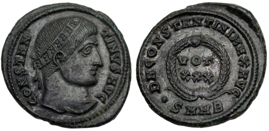 Ancient Coins - Constantine I votive from Heraclea