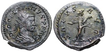 Ancient Coins - Diocletian SALVS AVGG from Lyons…Not in RIC