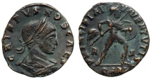 Ancient Coins - Crispus PRINCIPIA IVVENTVTIS from Arles…Mars advancing right