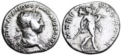 Ancient Coins - Trajan denarius with Mars reverse from Rome