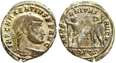 Ancient Coins - Maxentius AETERNITAS AVG N from Ostia