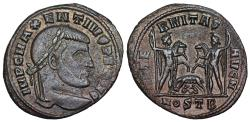 Ancient Coins - Maxentius AETERNITAS AVG N from Ostia…wolf and twins