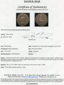 Ancient Coins - Constantine II ROMAE AETERNAE from Rome with EROS mintmark