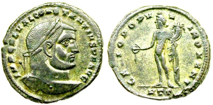 Ancient Coins - Constantius I GENIO POPVLI ROMANI from Heraclea