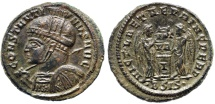 Ancient Coins - Constantine I VLPP from Siscia...floral design on shield