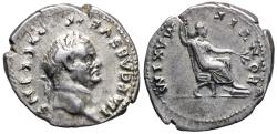 Ancient Coins - Vespasian PONTIF MAXIM from Rome