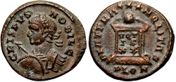 Ancient Coins - Crispus BEAT TRANQLITAS from London